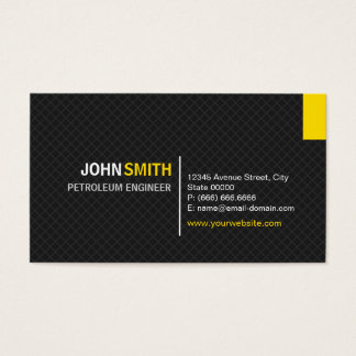 Petroleum Engineer - Modern Twill Grid Business Card