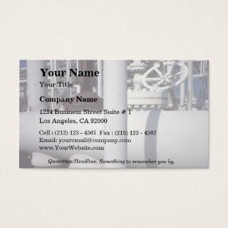 Petroleum refinery pipeline business card
