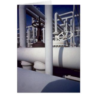 Petroleum refinery pipeline greeting card