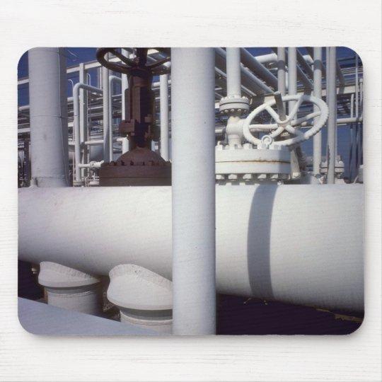 Petroleum refinery pipeline mouse pad