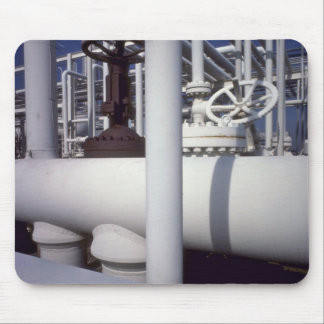 Petroleum refinery pipeline mouse pad