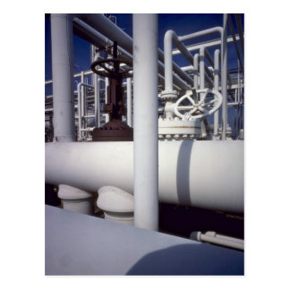 Petroleum refinery pipeline postcard