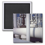 Petroleum refinery pipeline refrigerator magnet