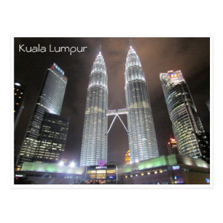 Petronas se eleva noche postales