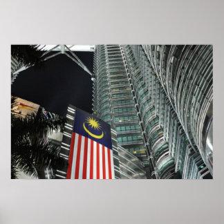 Petronas Towers at Night Posters