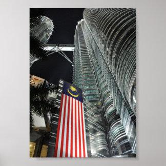 Petronas Towers at Night Poster