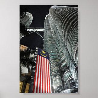 Petronas Towers at Night Print