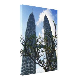 petronas towers canvas