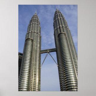 petronas towers kl poster