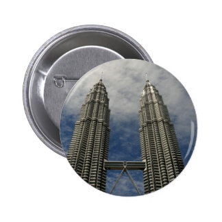 Petronas Towers Kuala Lumpur Malaysia 2 Inch Round Button