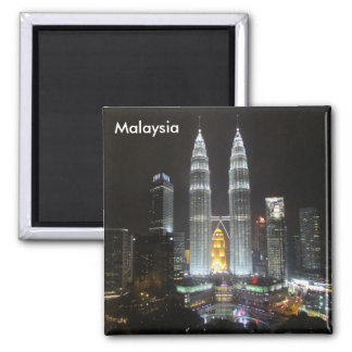petronas towers malaysia 2 inch square magnet
