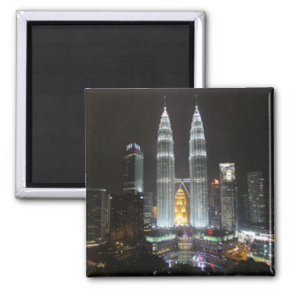 petronas towers night refrigerator magnets