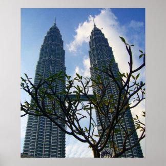 petronas towers plant poster