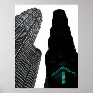 Petronas 'Twin' Towers Poster