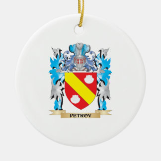 Petrov Coat of Arms - Family Crest Double-Sided Ceramic Round Christmas Ornament
