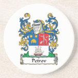 Petrov Family Crest Beverage Coaster