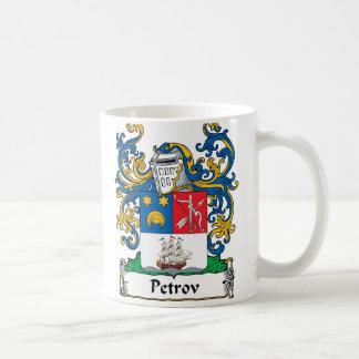 Petrov Family Crest Classic White Coffee Mug