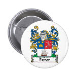 Petrov Family Crest Pinback Buttons