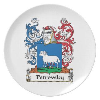 Petrovsky Family Crest Melamine Plate