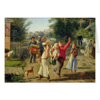 Petrushka is coming, 1888 card