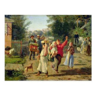 Petrushka is coming, 1888 postcard