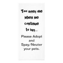 Pets Adopt Spay Neuter Pet Overpopulation Rack Card