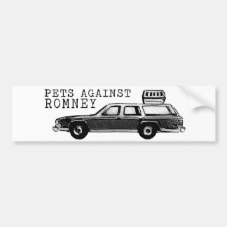 PETS AGAINST ROMNEY bumper sticker