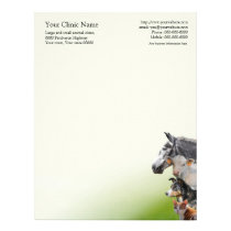 Pets and farm animals vet letterhead