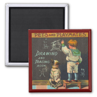 Pets and Playmates Magnet