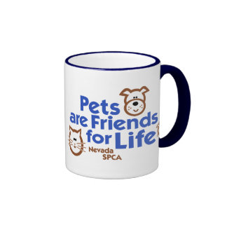 Pets are Friends for Life Products Ringer Coffee Mug