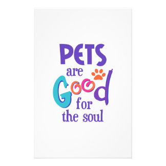 PETS ARE GOOD FOR SOUL CUSTOM STATIONERY