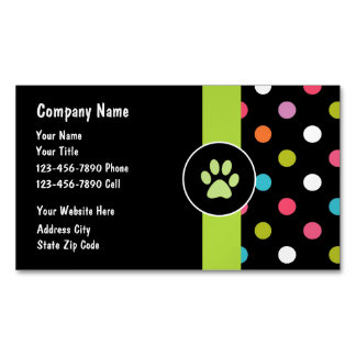 Pets Business Card Magnet