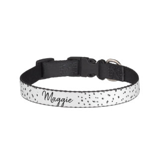 Pet's Busy Popcorn Spotted Polka Dots & Name Pet Collar