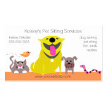Pets - dog cat bird snake Double-Sided standard business cards (Pack of 100)