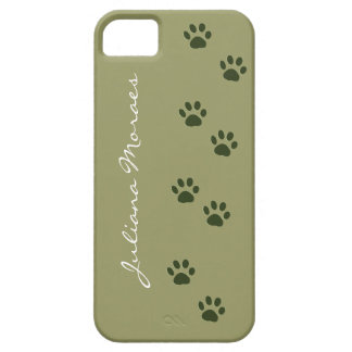 pets dog cat pawprints add name iPhone 5 cover