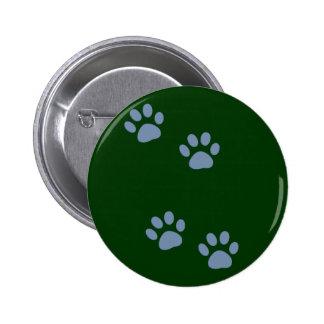 pets dog cat pawprints button