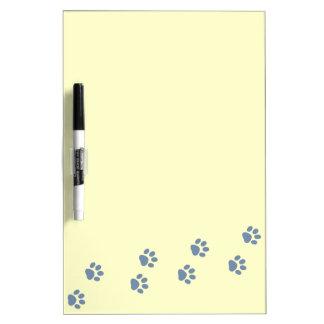 pets dog cat pawprints dry erase board