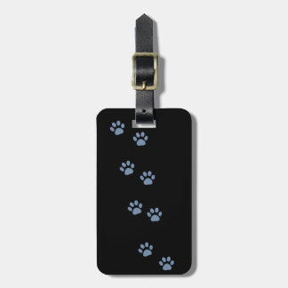 pets dog cat pawprints travel bag tags