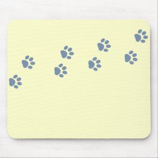 pets dog cat pawprints mouse pad