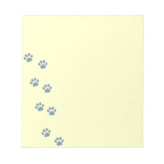 pets dog cat pawprints notepad