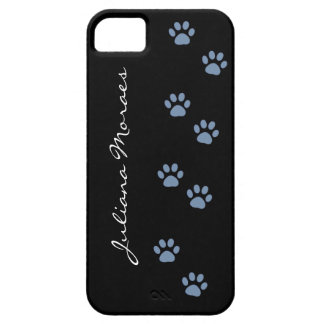 pets dog cat pawprints personalized iPhone 5 cover