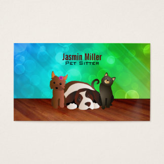 Pets Dogs and Cat Business Cards