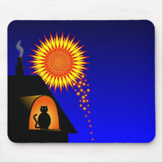 Pets don't like fireworks mouse pad