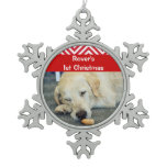 Pets first christmas photo PERSONALIZE Ornaments