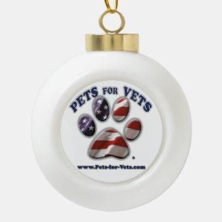 Pets for Vets Christmas Ornament (ball) Ceramic Ball Ornament
