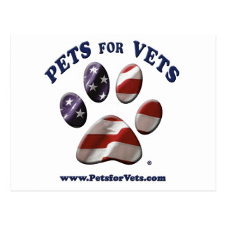 Pets for Vets Postcard
