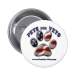 Pets for Vets www.pets-for-vets.com Pinback Buttons