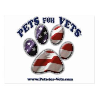 Pets for Vets www.pets-for-vets.com Postcard