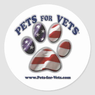 Pets for Vets www.pets-for-vets.com Classic Round Sticker