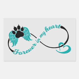 Pets Forever In My Heart Rectangular Sticker